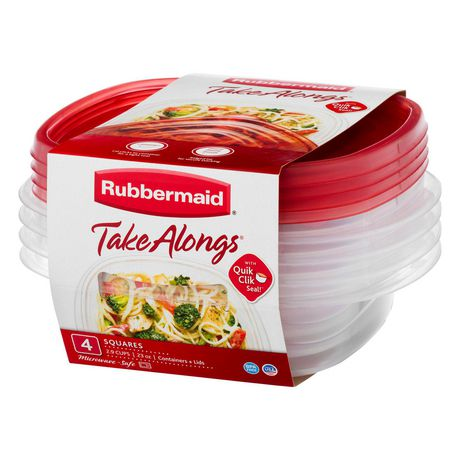 Rubbermaid TakeAlongs Food Storage Containers, 2.9 Cup, 4-Pack - image 1 of 4