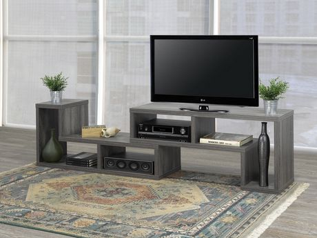 Brassex Inc Multiple Configuration TV Stand, Grey - image 4 of 8