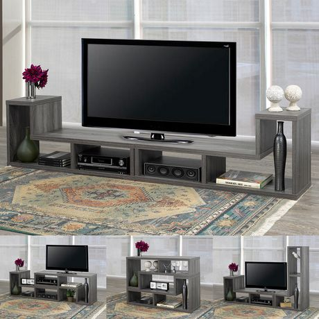 Brassex Inc Multiple Configuration TV Stand, Grey - image 1 of 8