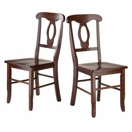 Ens 2 pi ces chaise dossier en trou de serrure for Chaise a trou