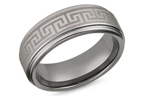 Tungsten With Greek Key Symbol 8mm Mens Ring Walmart Canada