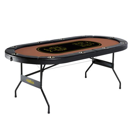 No Assembly Required Barrington 10-Player Poker Table