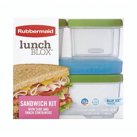 Rubbermaid Lunchblox Sandwich Kit with icepack, 1 kit - image 1 of 6