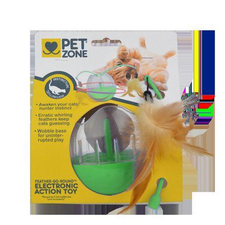 Pet Zone jouet interactif électronique Feather-Go-Round - image 1 de 2