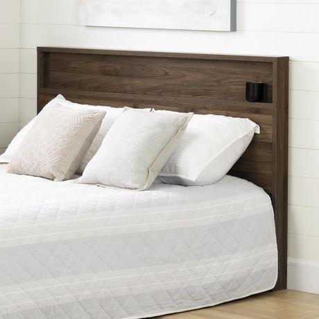 tao t te de lit double grand 54 60 avec tablette noyer. Black Bedroom Furniture Sets. Home Design Ideas