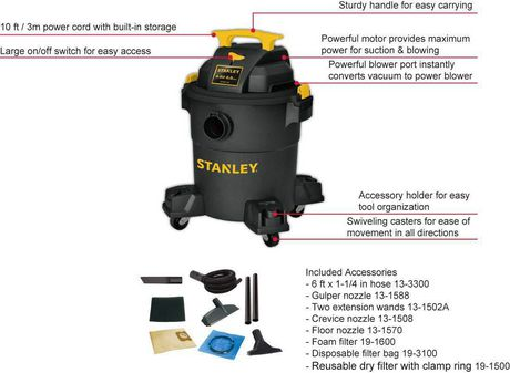 Stanley 6 Gallon Wet/Dry Vacuum - image 3 of 5