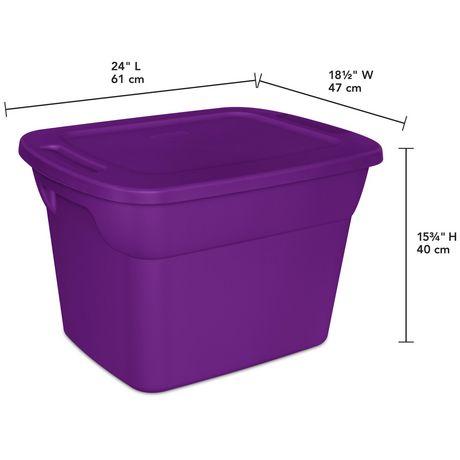Sterilite 68L Tote- Purple- 8PK - image 3 of 3