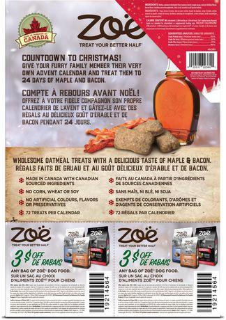 Zoe Dog Holiday Calendar with Festive Maple Bacon Treats - image 3 of 4
