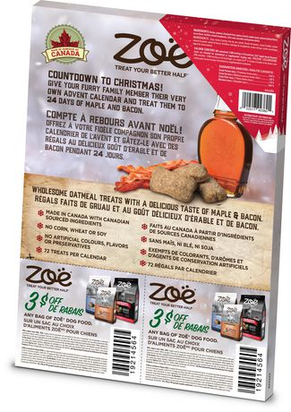 Zoe Dog Holiday Calendar with Festive Maple Bacon Treats - image 4 of 4