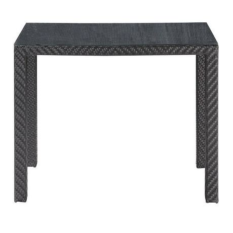 Table manger d 39 ext rieur 1 pi ce en osier synth tique for Table exterieur walmart