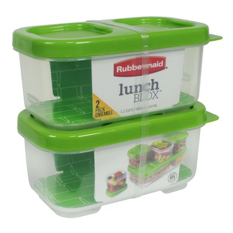 Rubbermaid LunchBlox Side Container, Green, Pack of 2 - image 1 of 4