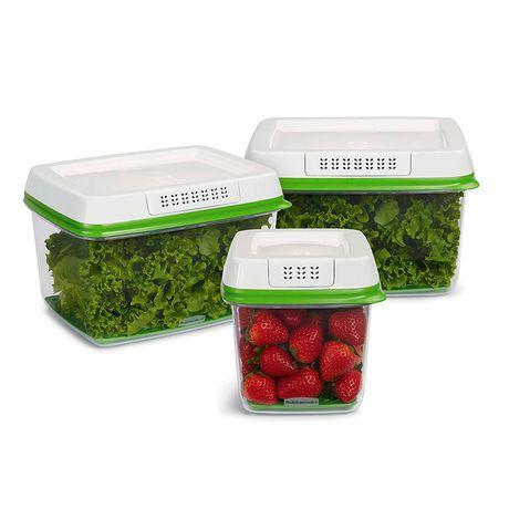 Ensemble de 3 pièces de contenants pour garder des produits agricoles Freshworks de Rubbermaid - image 2 de 5