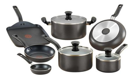T-fal Initiatives 10PC Cookware Set - image 1 of 6