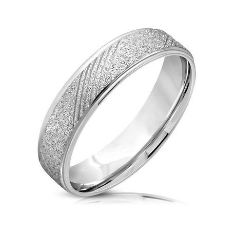 Pure316 Women's 7 mm Fancy Sandblasted Comfort Fit Band Ring - image 1 of 2