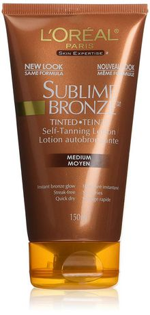 L'Oreal Paris Sublime Bronze Tinted Self-Tanning Lotion, with AHAs and Vitamin E, Streak-free. Quick-dry, Instant glow. Natural-looking tan, Medium - image 1 of 3