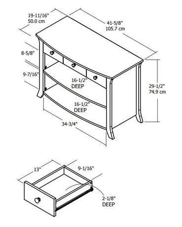 Dorel Home Austin Storage Accent Table - image 3 of 3