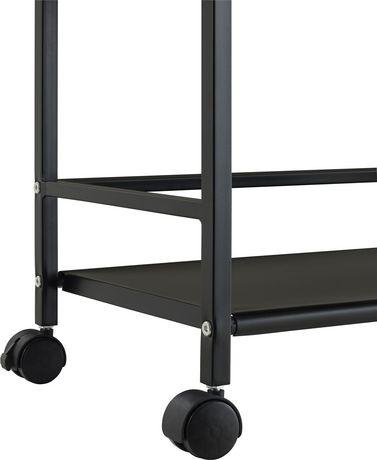 Marshall 3 Shelf Metal Rolling Utility Cart, White - image 6 of 6
