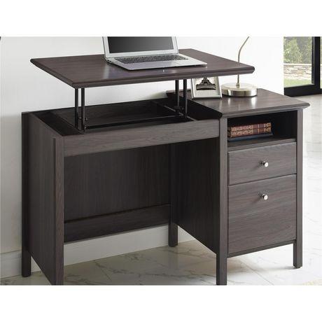 lift top desk. Ameriwood Adler Lift-Top Desk, Espresso Lift Top Desk M