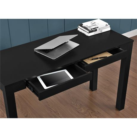 large parsons desk with 2 drawers gray walmart canada. Black Bedroom Furniture Sets. Home Design Ideas