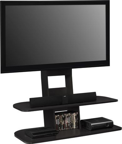galaxy tv stand with mount for tvs up to 65 black walmart canada. Black Bedroom Furniture Sets. Home Design Ideas