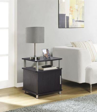 Carson end table with storage espresso walmart canada - Walmart canada furniture living room ...
