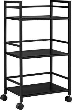 Marshall 3 Shelf Metal Rolling Utility Cart, White - image 5 of 6