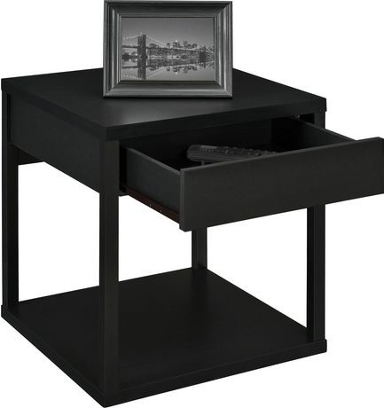 Parsons End Table With Drawer Black Walmart Canada