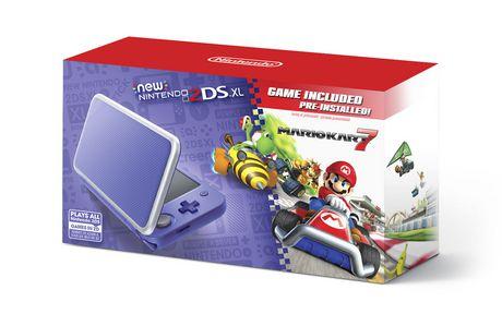 New Nintendo 2DS XL - Purple + Silver w/ Mario Kart 7 Pre-installed (Nintendo 3DS)