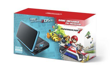 New Nintendo 2DS XL - Black + Turquoise w/ Mario Kart 7 Pre-installed (Nintendo 3DS)