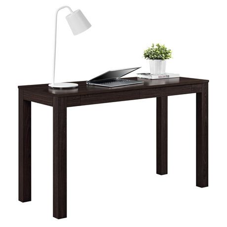 Grand bureau parsons avec 2 tiroirs gris walmart canada - Bureau avec grand tiroir ...