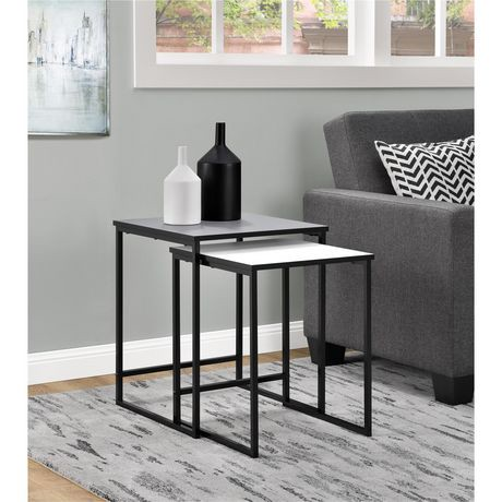 Stewart Nesting Tables Gray And White Walmart Canada