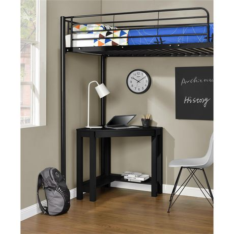 bureau de coin parsons gris walmart canada. Black Bedroom Furniture Sets. Home Design Ideas