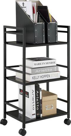 Marshall 3 Shelf Metal Rolling Utility Cart, White - image 3 of 6