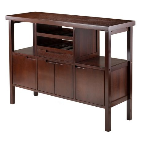 Peachy Winsome Diego Buffet Sideboard Table In Walnut Finish 94746 Home Interior And Landscaping Fragforummapetitesourisinfo