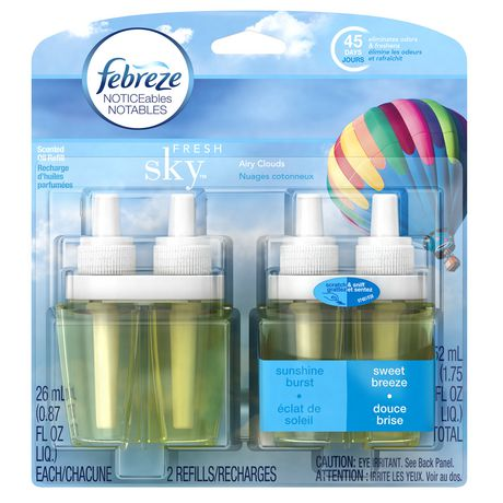 Febreze NOTICEables Fresh Sky Dual Oil Refills Air Freshener - image 1 of 7