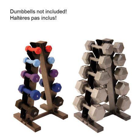 CAP Barbell Black A Frame Dumbbell Rack W