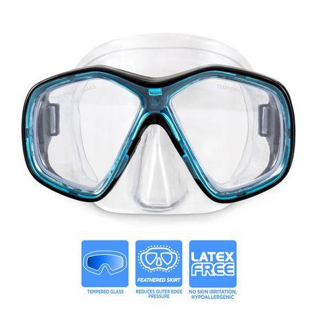 Dolfino Pro Makena Adult Dive Mask - Blue / Black - image 2 of 5