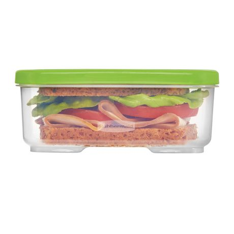 Rubbermaid LunchBlox Sandwich Storage Container, Green - image 4 of 4