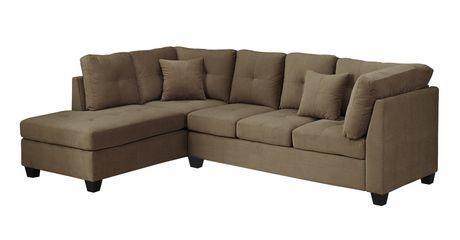 Monarch Specialties Light Brown Velvet Sofa