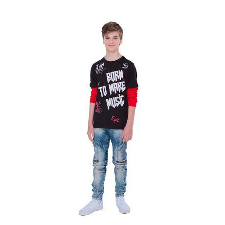 Boy's Mini Pop Kids Born To Make Music Long Sleeve T-Shirt - image 1 of 7