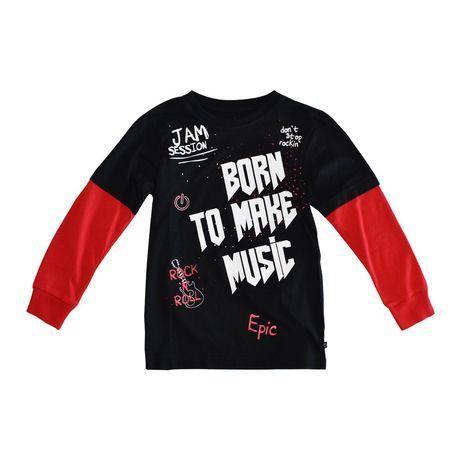 Boy's Mini Pop Kids Born To Make Music Long Sleeve T-Shirt - image 5 of 7