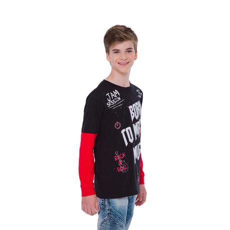 Boy's Mini Pop Kids Born To Make Music Long Sleeve T-Shirt - image 2 of 7