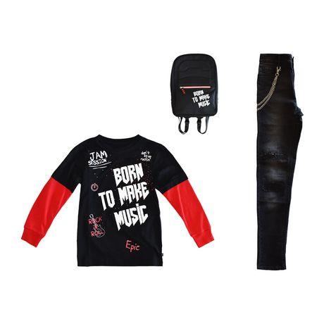 Boy's Mini Pop Kids Born To Make Music Long Sleeve T-Shirt - image 7 of 7