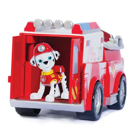 paw patrol marshall s firetruck toy vehicle and action figure