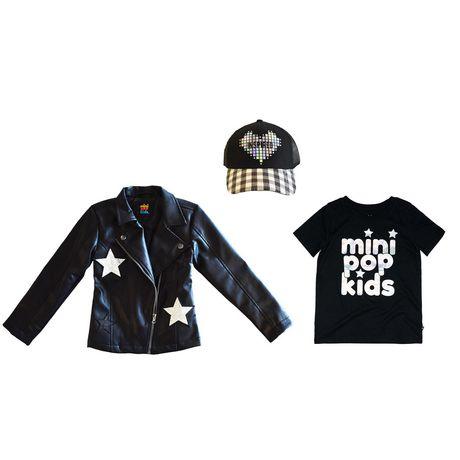 Girls Mini Pop Kids Star Patch Jacket - image 8 of 8