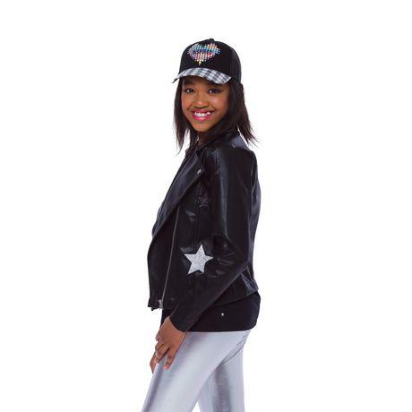 Girls Mini Pop Kids Star Patch Jacket - image 3 of 8