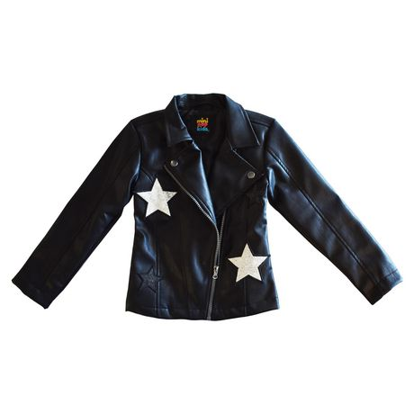 Girls Mini Pop Kids Star Patch Jacket - image 6 of 8