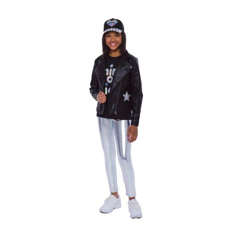 Girls Mini Pop Kids Star Patch Jacket - image 1 of 8