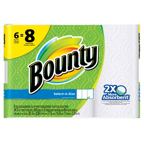 Bounty® Select-A-Size™ Paper Towels, White - image 1 of 6