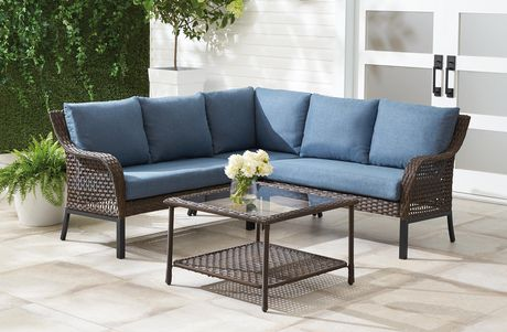 Hometrends Tuscany Ii 4 Piece Sectional, Patio Sectional Replacement Cushions Canada